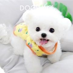 도그웨그 튤립 누빔 조끼 강아지 깔깔이 겨울 아우터 애견 의류