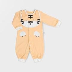 [메르베] 아기호랑이 신생아 실내우주복/북유럽아기옷_사계절용