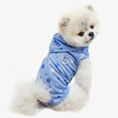 [리얼펫] 도트 강아지 후드 3color