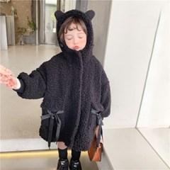 곰돌이귀양털코트