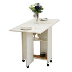 접이식 자유자재 폴더블 화이트 테이블 T 거실장