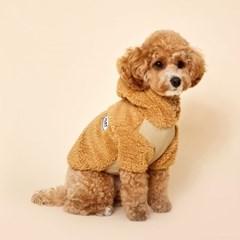 플로트 플러피후리스 베어후드 강아지옷 베이지