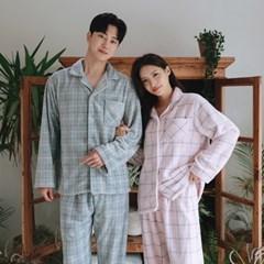 오브 겨울 극세사 커플 잠옷 수면 바지