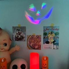 할로윈 호박 LED 캔들