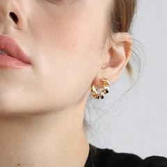 croissant ring earring E036