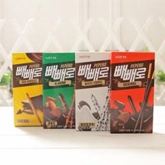 롯데 PP케이스 4맛(16갑) 빼빼로 데이 수능 과자 선물