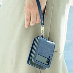 갤럭시Z플립3 잭팟하이클래스Z (세로형) 천연소가죽 지갑 케이스