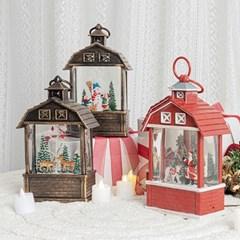 크리스마스 하우스 워터볼 오르골 (4type)