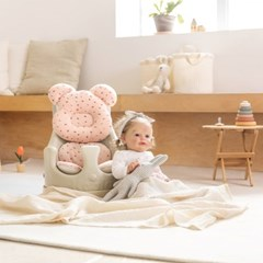 에시앙 아기의자 P-Edition+와플베어2종(베개+라이너) 유아 이유식의