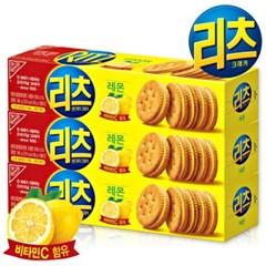 [리츠] 리츠 샌드위치 크래커 레몬 96gX3개 /과자/쿠키/샌드