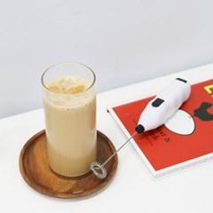 미니 우유 거품기 전동 거품기 홈카페 휘핑기 2P