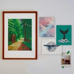 미니 포스터 / 패브릭 포스터_whale/고래 A (4종세트)