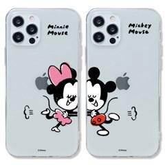 디즈니 미키 앤 미니 커플 클리어케이스 아이폰13 시리즈