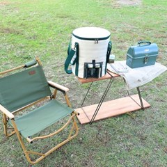 스노우아울 캠핑 테이블 2WAY 셸프 우드 테이블
