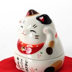 마네키네코 야쿠시도 오뚝이 복고양이 (흰색)T-7321