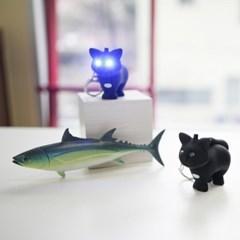 Cat LED Keychain
