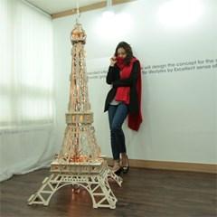 [작은사이즈]조립이 거의다 되어있는 자작나무 파리 에펠탑