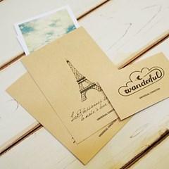 에펠탑 엽서봉투SET
