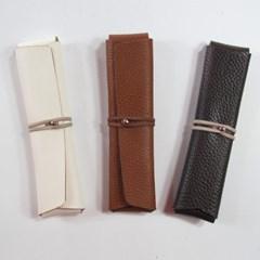 Pencil Case_Cross Folding - 천연가죽 접이식 필통
