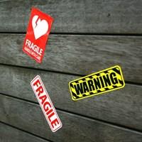 WARNING-FRAGILE 스티커
