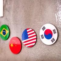 세계 국기 뱃지