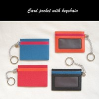 Card pocket with keychain