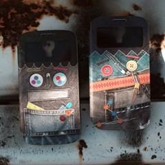 뷰커버케이스_Funky Robot 펑키로봇 (Galaxy S4 전용)