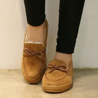 Ribbon fur moccasin_KM13w130