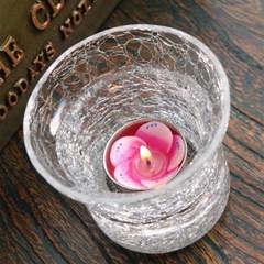 유리촛대 얼음꽃