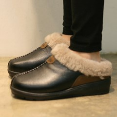 국내생산4color suede patch fur slipper_KM13w151