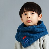 Hooded Neck Warmer_Fur Blue