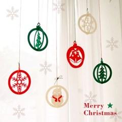 크리스마스 써클 가랜드 6p set
