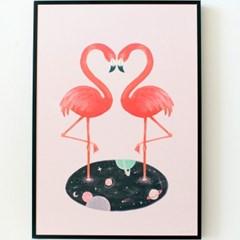Cosmic flamingo 포스터