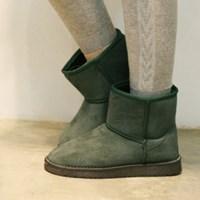 Cute mink fur ankle boots_KM13w239