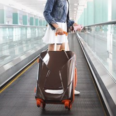 [Travel Mate] 체스터 TSA 수하물 24형/65cm 여행가방 - 브라운