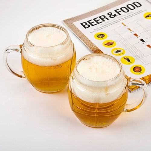 Borgonovo Sports Beer Mug (맥주잔) 0.5L (2p,4P)