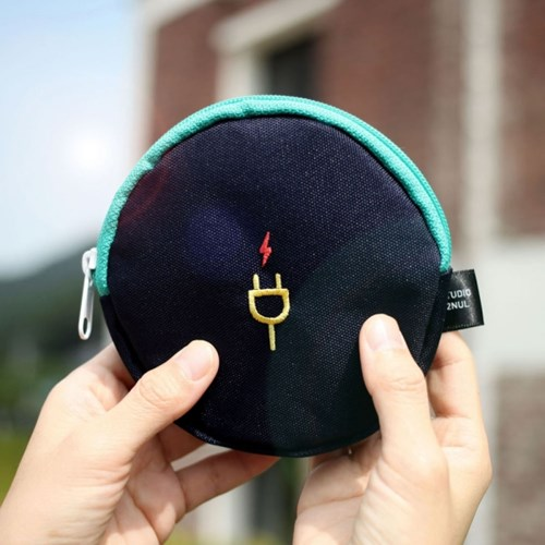 Charger Pouch - 여행용 충전기 파우치 핑크