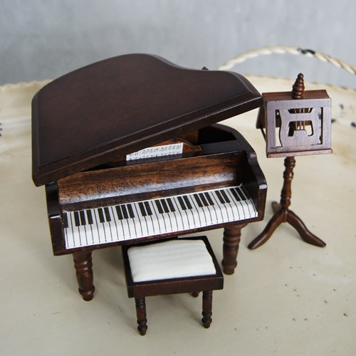 우드 미니어쳐 엔틱 피아노 3p set