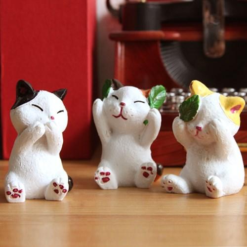 개구쟁이 고양이 미니어처 오너먼트 3P SET LX17031