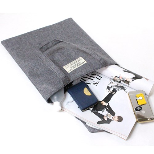 Rlovestyle 린넨 에코백- d.gray/gray/ivory/blue