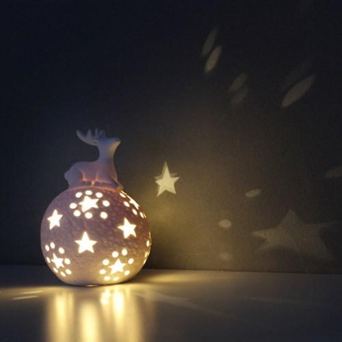 사슴 웜 무드 램프(수은전지용 배터리포함)