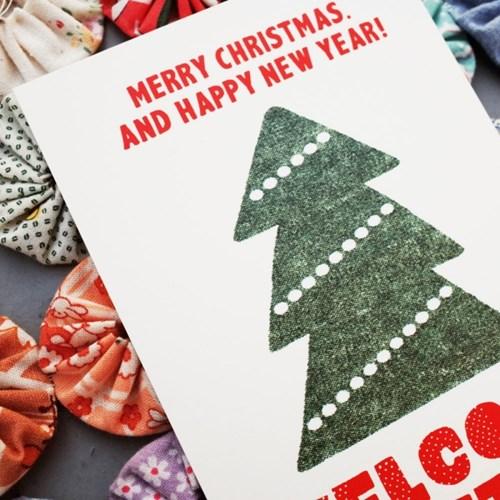 크리스마스 엽서 TREE