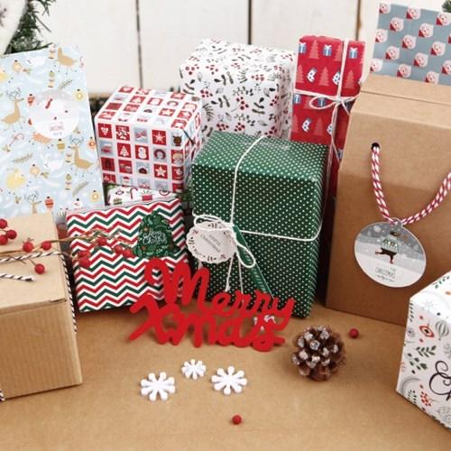 [기성]포장지크리스마스 패턴