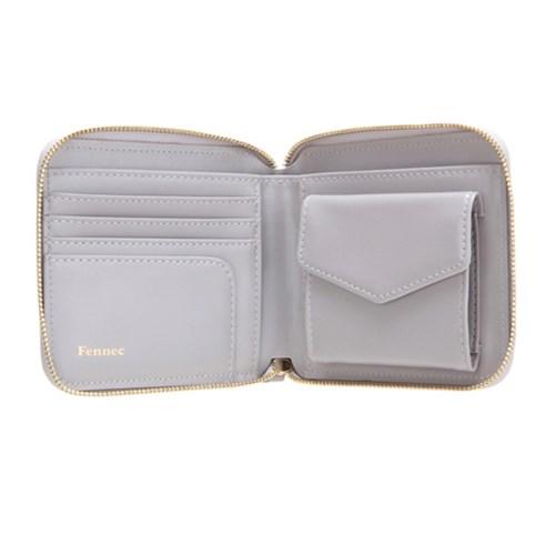 Fennec Zipper Wallet - Light Grey