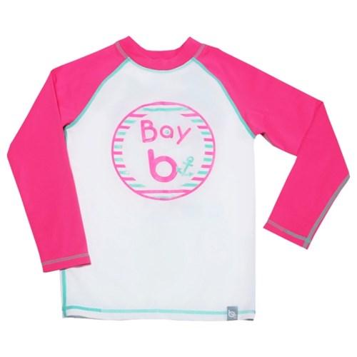 [bay-b] 유아래쉬가드 베이스볼 핑크