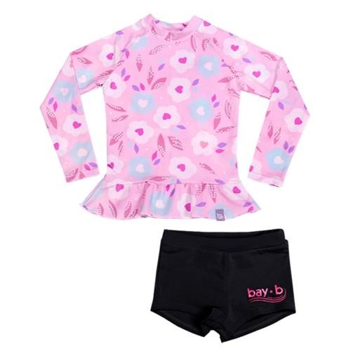 [bay-b] 여아 래쉬가드세트 블라썸 핑크