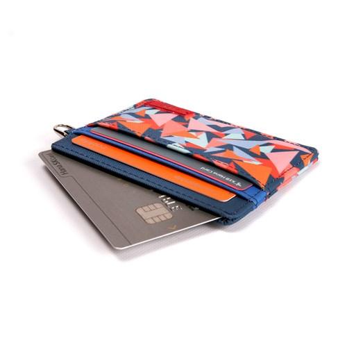 [자누] 트라이앵글 카드지갑 - 블루
