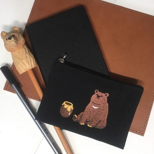 honey bear card pouch