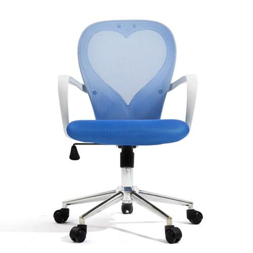[다니카] 하트문 의자 CY-010W 블루