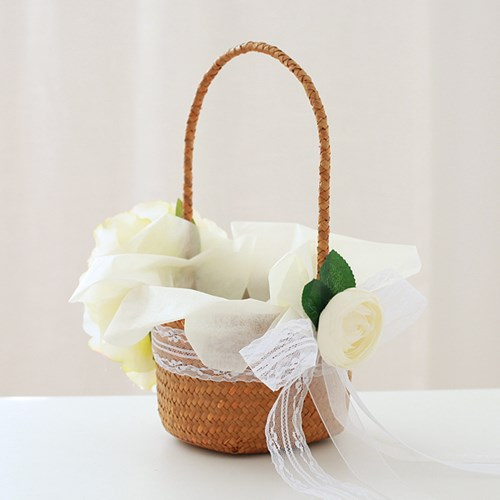 피오니 화동바구니+꽃잎 300개set_(391290)